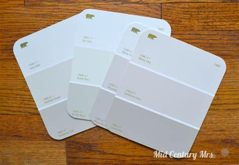 behr paint color white clay mid century mrs basement picking paint colors