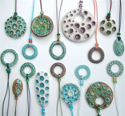 how to make ceramic jewelry 25 best ideas about ceramic necklace on