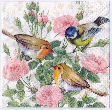 bird decoupage paper decoupage paper napkin birds and flowers 1 chiarotino