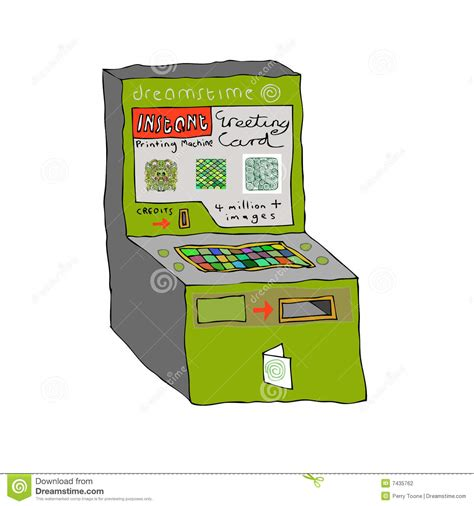 greeting card machine dreamstime machine stock photography image 7435762