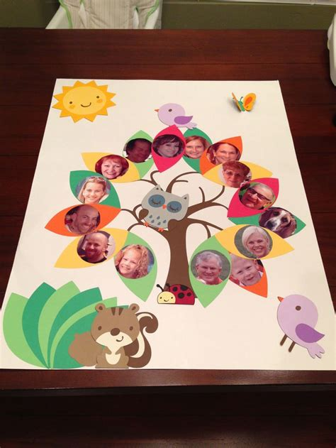 craft ideas for school projects family tree project family tree