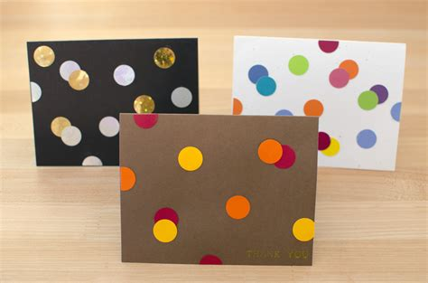 easy greeting card diy card idea easy peasy punch dot greeting cards