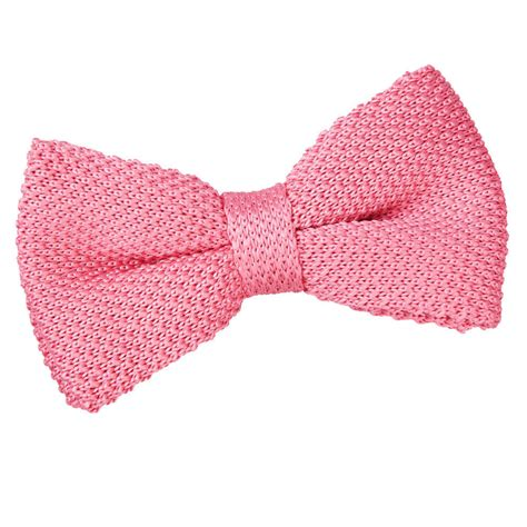 knitted bow tie s knitted strawberry pink bow tie