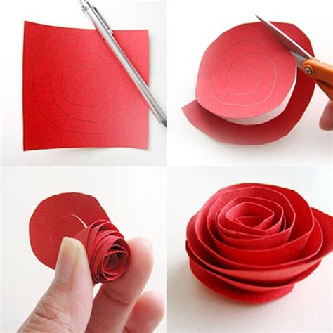 how to make paper roses for cards diy paper flower tutorial step by step