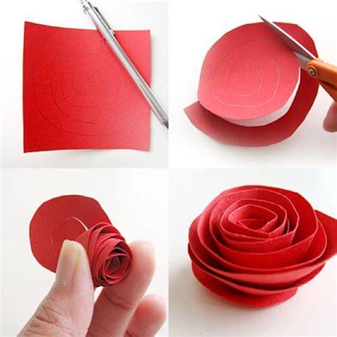easy paper flower crafts diy paper flower tutorial step by step