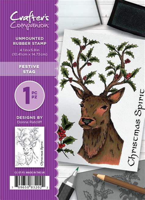 unmounted rubber st crafters companion a6 unmounted rubber st set festive