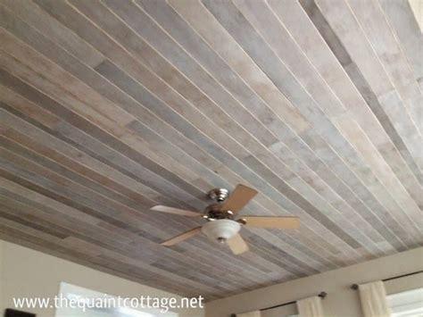 wood ceiling planks diy faux rustic plank ceiling via the quaint cottage