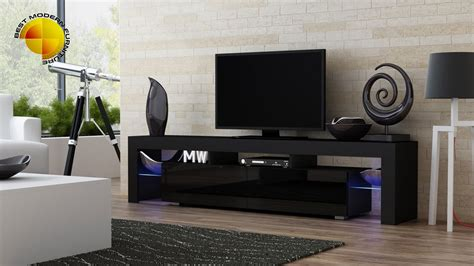 tv furniture modern high gloss modern tv stand cabinet rgb led lights