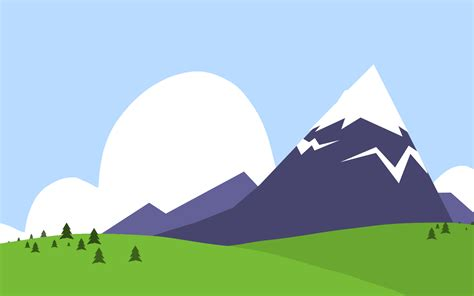 mountain and forest ppt backgrounds blue green nature