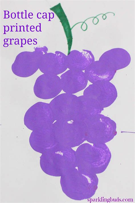 grapes craft for easy fruit painting grape painting sparklingbuds
