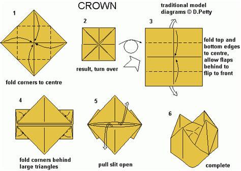 Paper Crown Origami Tutorial Kiddo