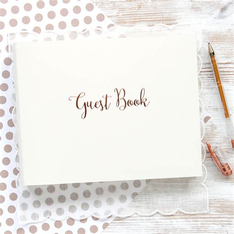 picture guest book personalised gold wedding guest book by begolden
