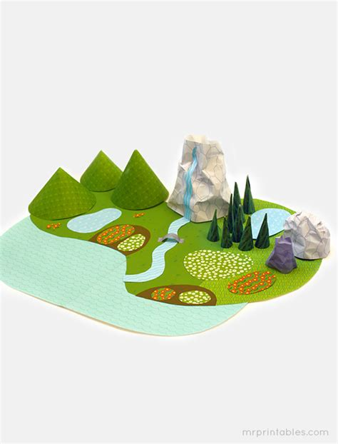 paper crafting world printable paper landscape family crafts