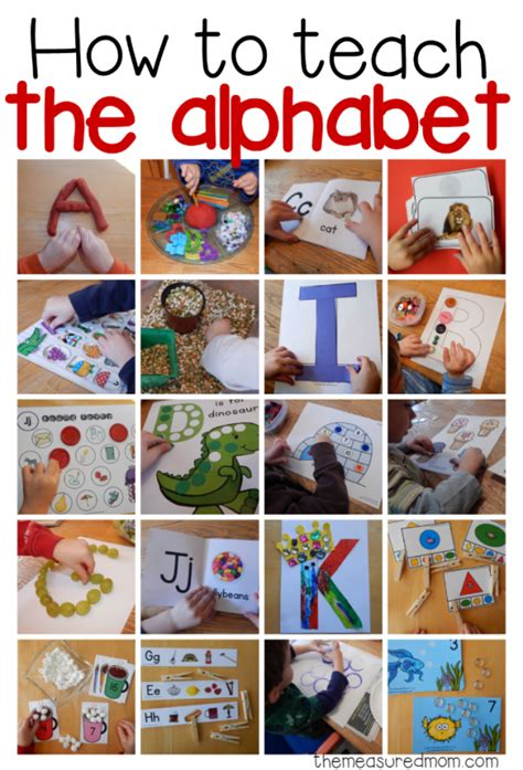 picture books to teach idea how to teach the alphabet collage image