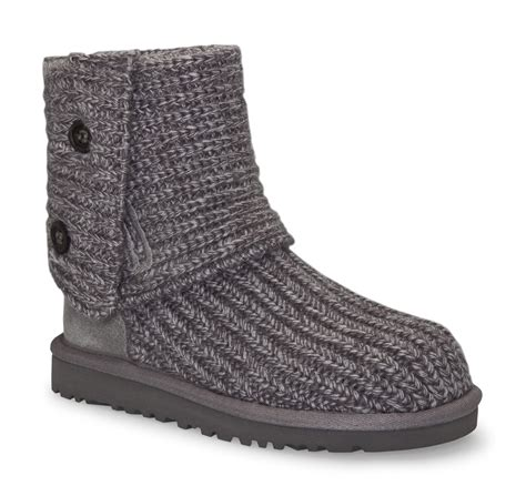 uggs grey knit boots ugg kid s classic cardy boots in grey