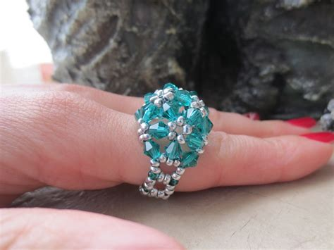 how to make a beaded ring beaded rings tutorial blossom ring ioma