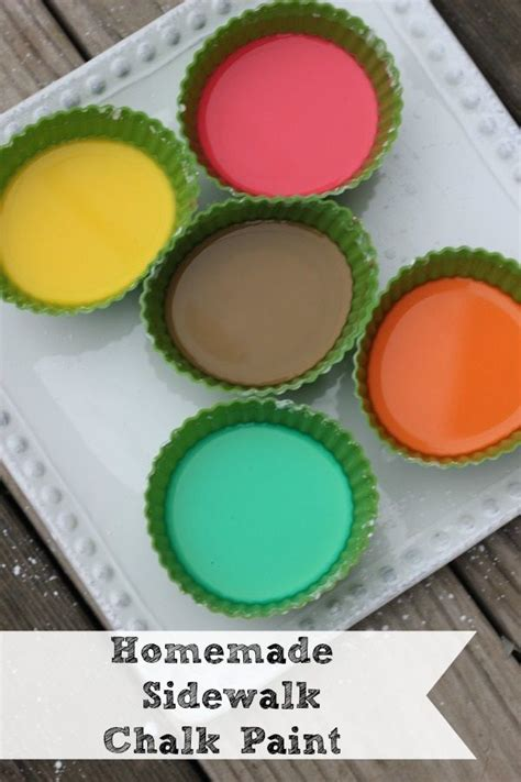 diy sidewalk chalk paint recipe 1000 images about with the on