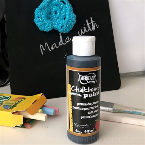 Create With Diy Chalk Board And Crocheted Duster