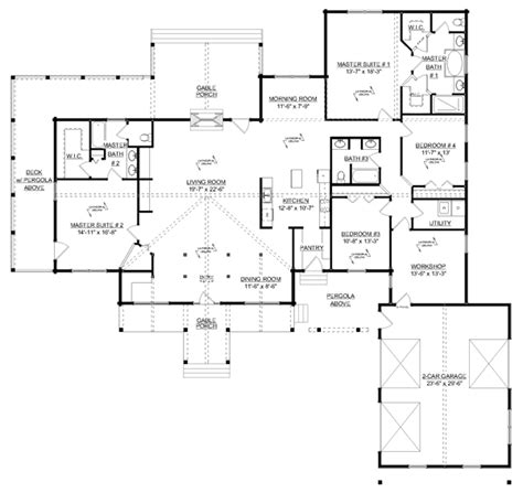 floor plans aflfpw76173 1 story craftsman home with craftsman house floor plans