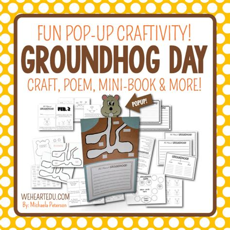 groundhog day honest trailer groundhog day activities pop up craft mini book and more