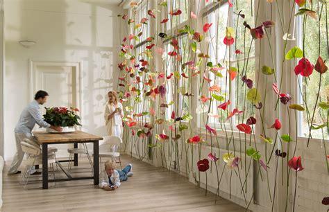 original decorations original window decoration anthurium flower curtains