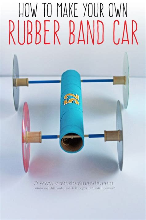 rubber band crafts for how to make a rubber band car recipe kid crafts