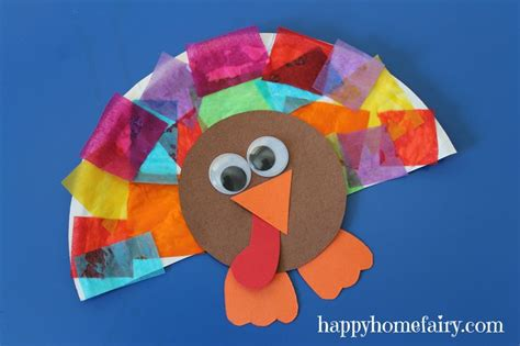 easy thanksgiving paper crafts paper plate collage turkey craft homeschool