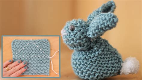 how to knit a square in the how to knit a bunny from a square studio knit