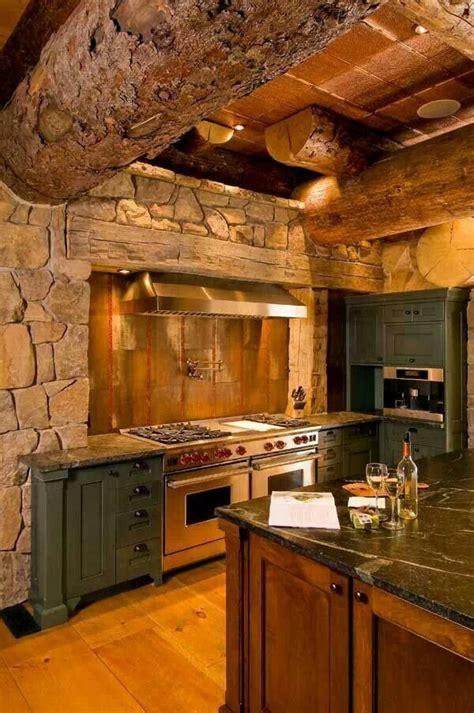 cabin kitchen designs rustic bark log kitchen cabin kitchen bar