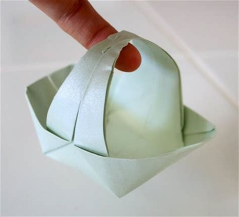 origami basket unpinning for march 2013