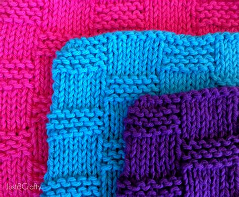 easy basket weave knit pattern basket weave dishcloth pattern just be crafty