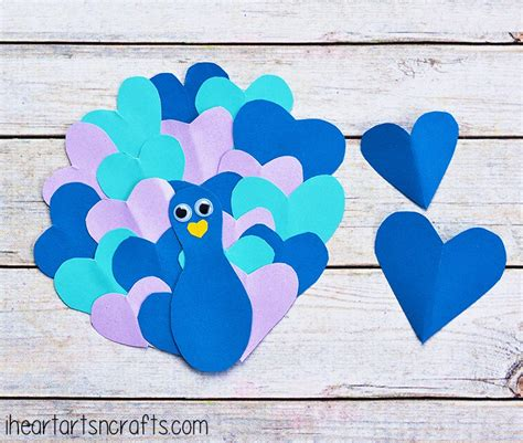 make construction paper crafts for peacock family crafts