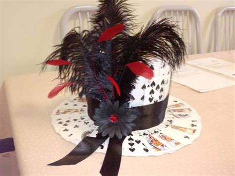 how to make a top hat from card diy card hat for a casino themed centrepiece diy