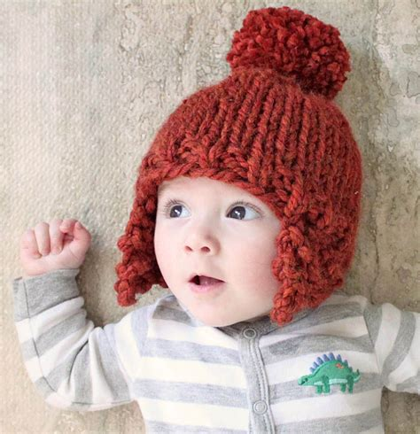 knitting patterns for baby hats with ears baby ear flap hat knitting pattern michele