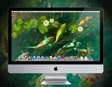 koi pond 3d mac osx aquarium anim 233 en fond d ecran gratuit vaisselle et mac