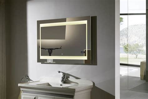 bathroom mirrors lighted zen ii lighted vanity mirror led bathroom mirror
