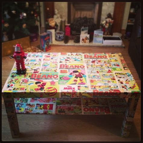 coffee table decoupage my vintage beano coffee table decoupage upholstery