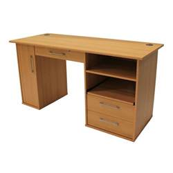 computer desk beech pioneer desk 145 cm beech staples 174
