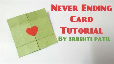 how to make a endless card never ending card endless card tutorial by srushti patil
