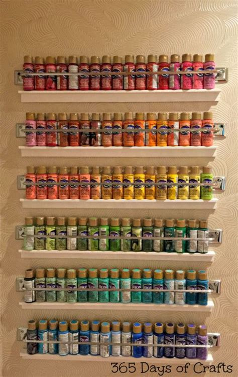 acrylic paint storage 25 best ideas about craft paint storage on