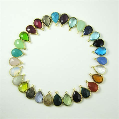 gemstone jewelry kits gemstone pendant and earwire gold plated sterling silver