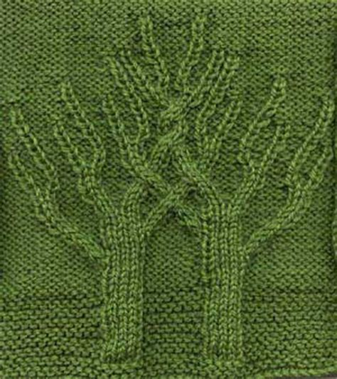 how to knit a tree knitting patterns galore twining trees