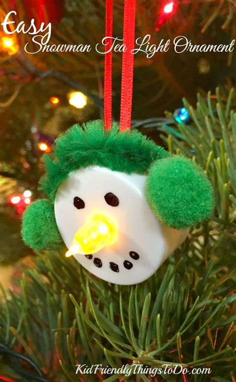 easy ornament crafts for easy snowman tea light ornament craft