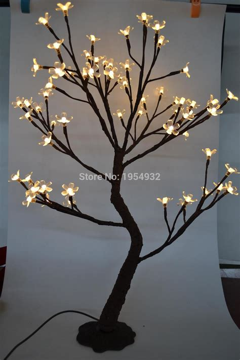black light tree indoor outdoor 64 led cherry blossom tree light in 70cm
