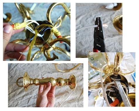 rewire a chandelier brassy to my free chandelier centsational