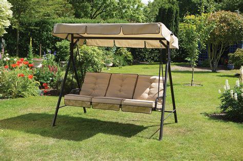 luxury cream 3 seater garden swing seat hammock with deep