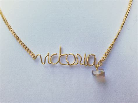 how to make custom gold jewelry custom name necklace personalized name necklace wire name