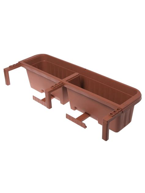 self watering railing planter railing planters 36 quot accommodate 1 quot to 4 25 quot thick deck
