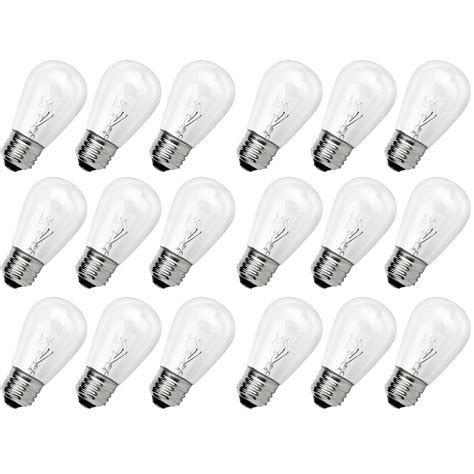 decorative lighting string replacement bulbs newhouse lighting outdoor s14 incandescent replacement