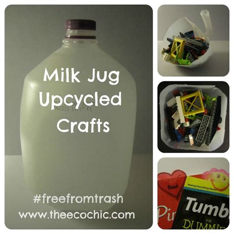 upcycled craft projects milk jug upcycled crafts freefromtrash crafts